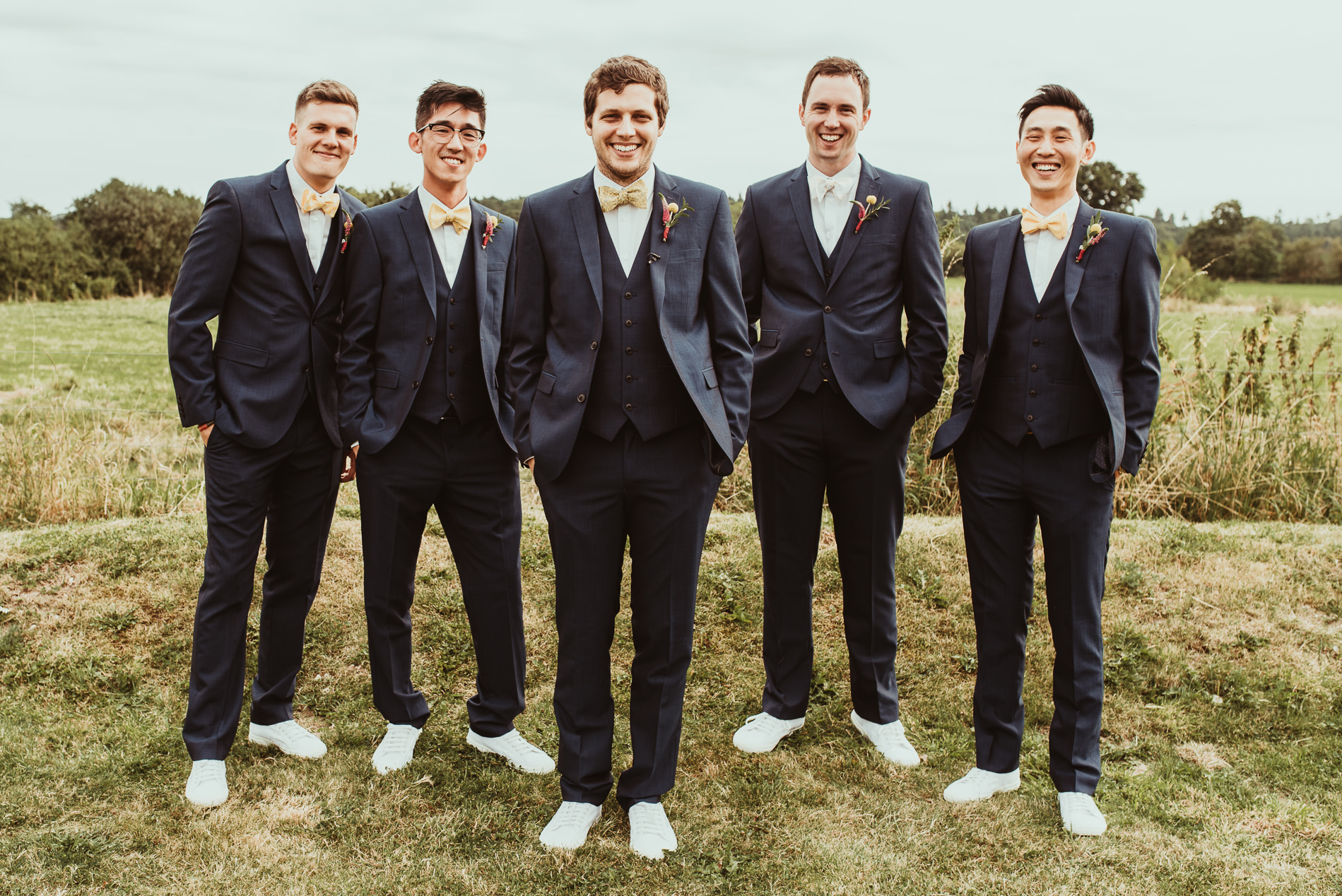 Groomsmen at White Dove Barns