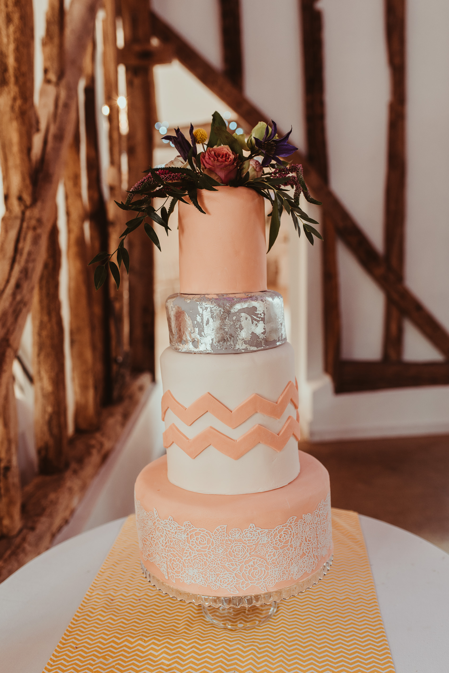 Wedding Cake at White Dove Barns