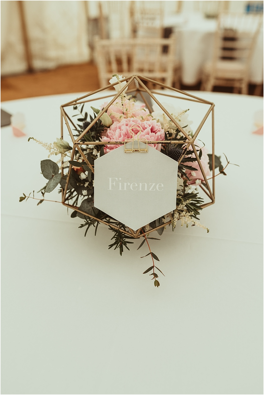 Geometric Wedding Table
