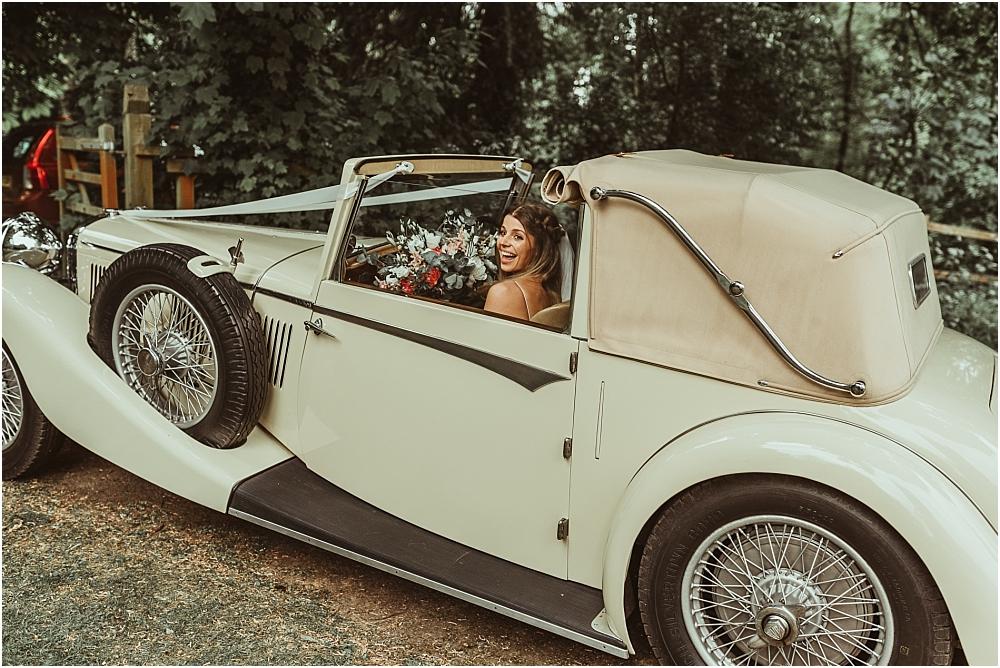 Bride Arrival Vintage Car