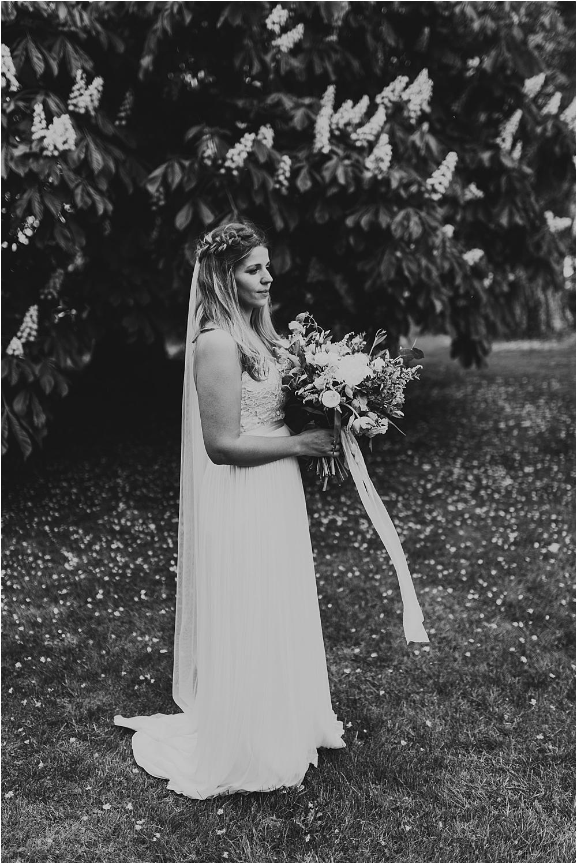 Bride Black and White Boho Wedding
