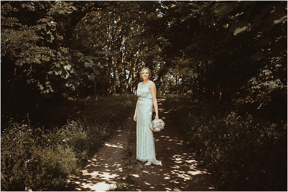 Bride in Phase Eight wedding dress Essex