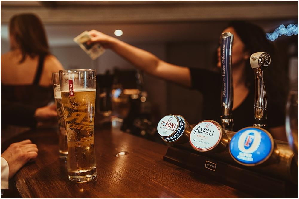 Beer at Old Bull Inn Royston