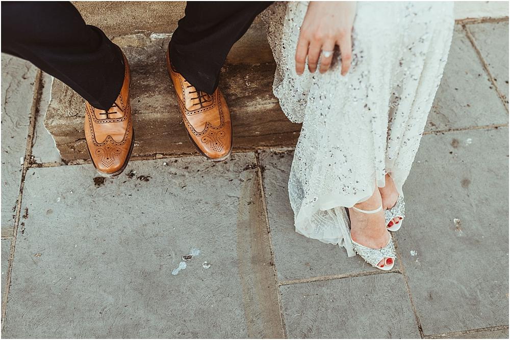 Jess Soper // Wedding shoes at Old Bull Inn Royston