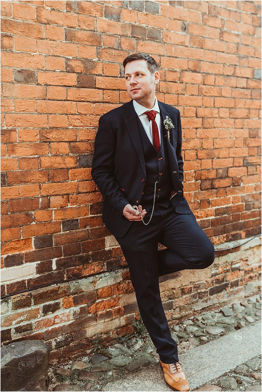 Jess Soper // Groom in Master Debonair Suit at Old Bull Inn Royston