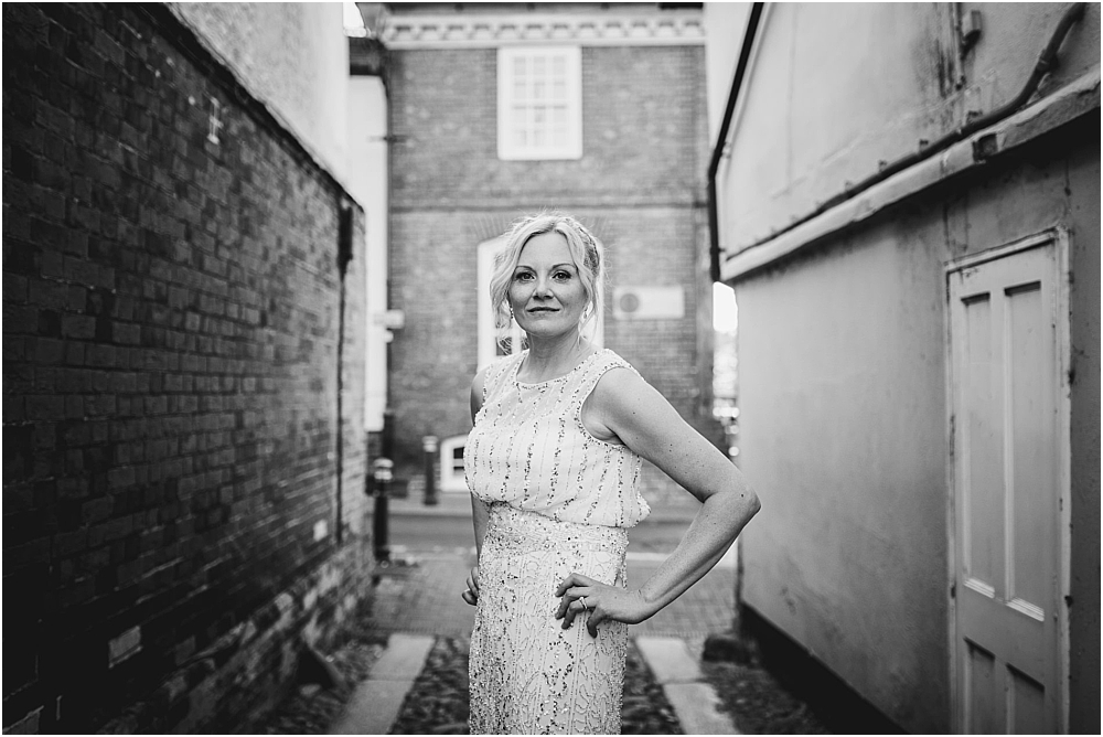 Jess Soper // Bride in Phase Eight at Old Bull Inn Royston