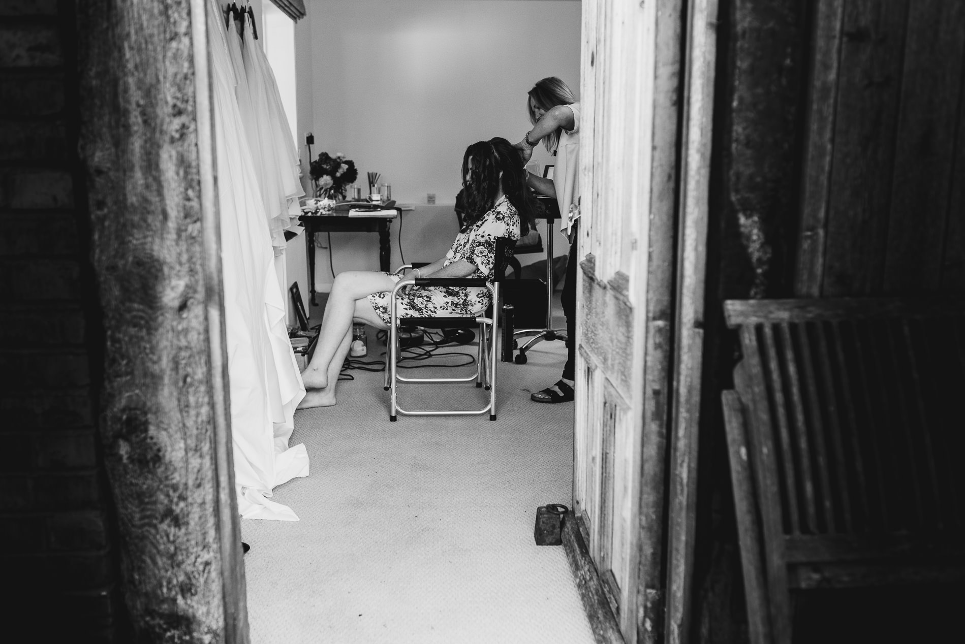 Bride Getting ready Shropshire - Jess Soper Photography