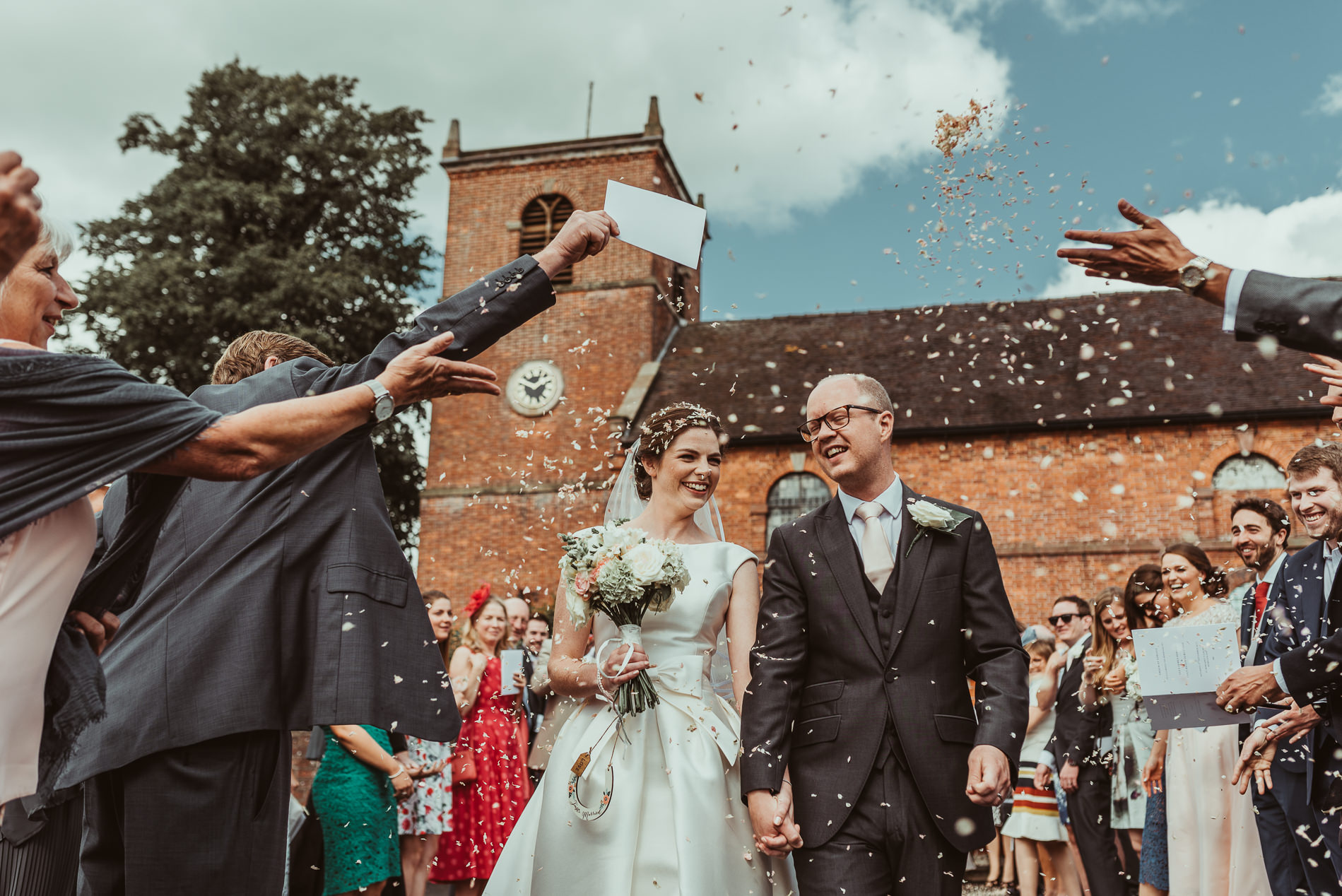 Throwing Confetti Market Drayton Wedding - Jess Soper