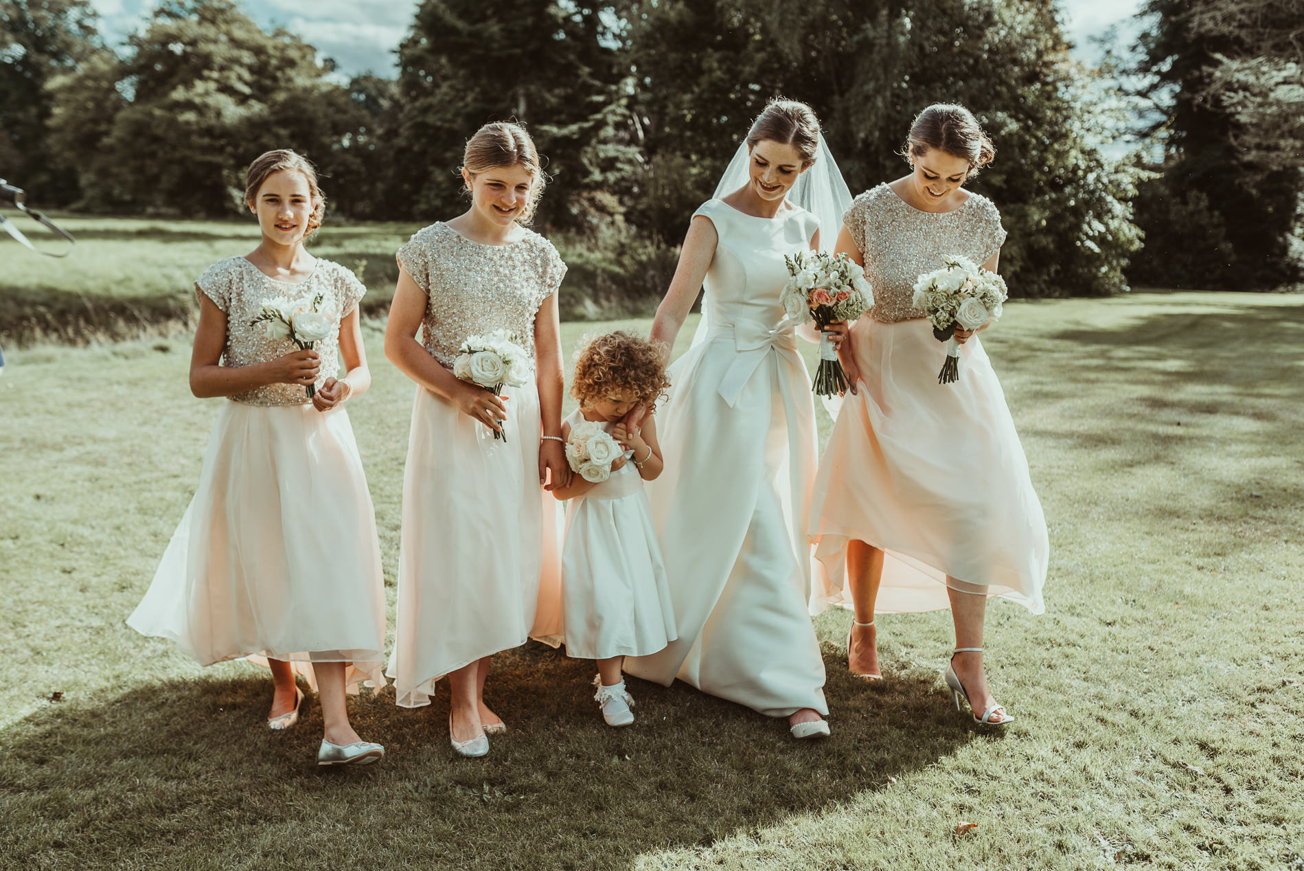 Bridesmaids Oakley Hall Market Drayton Weddings - Jess Soper