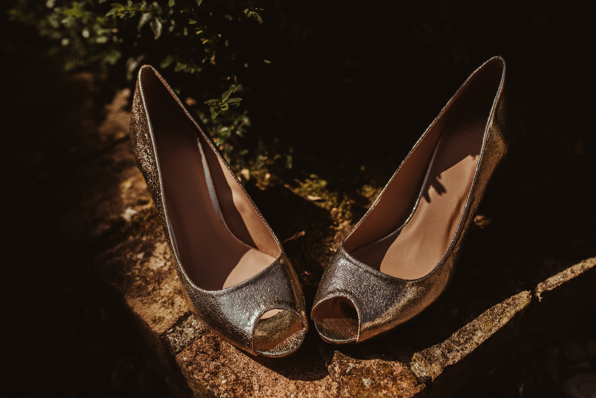 Wedding shoes at White Dove Barns