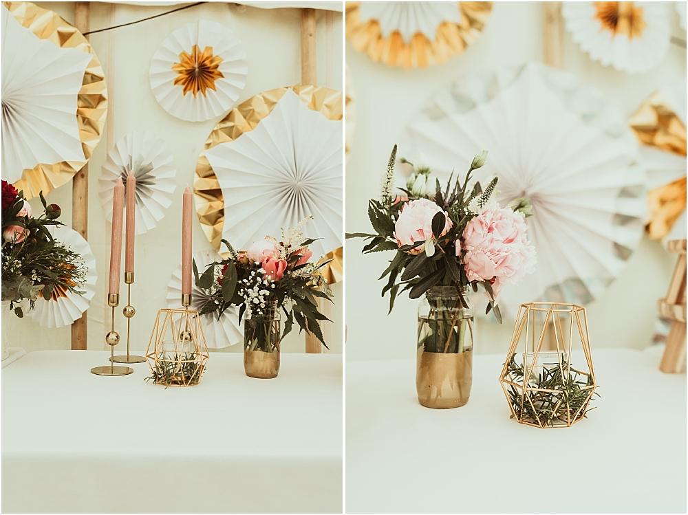Geometric Wedding Stylish Design DIY Candles
