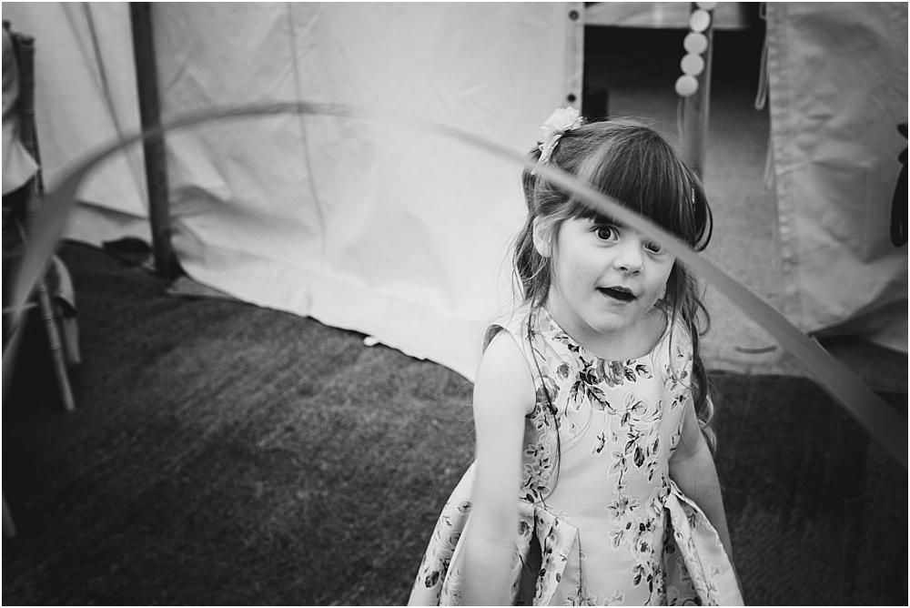 Girl at wedding alternative photography