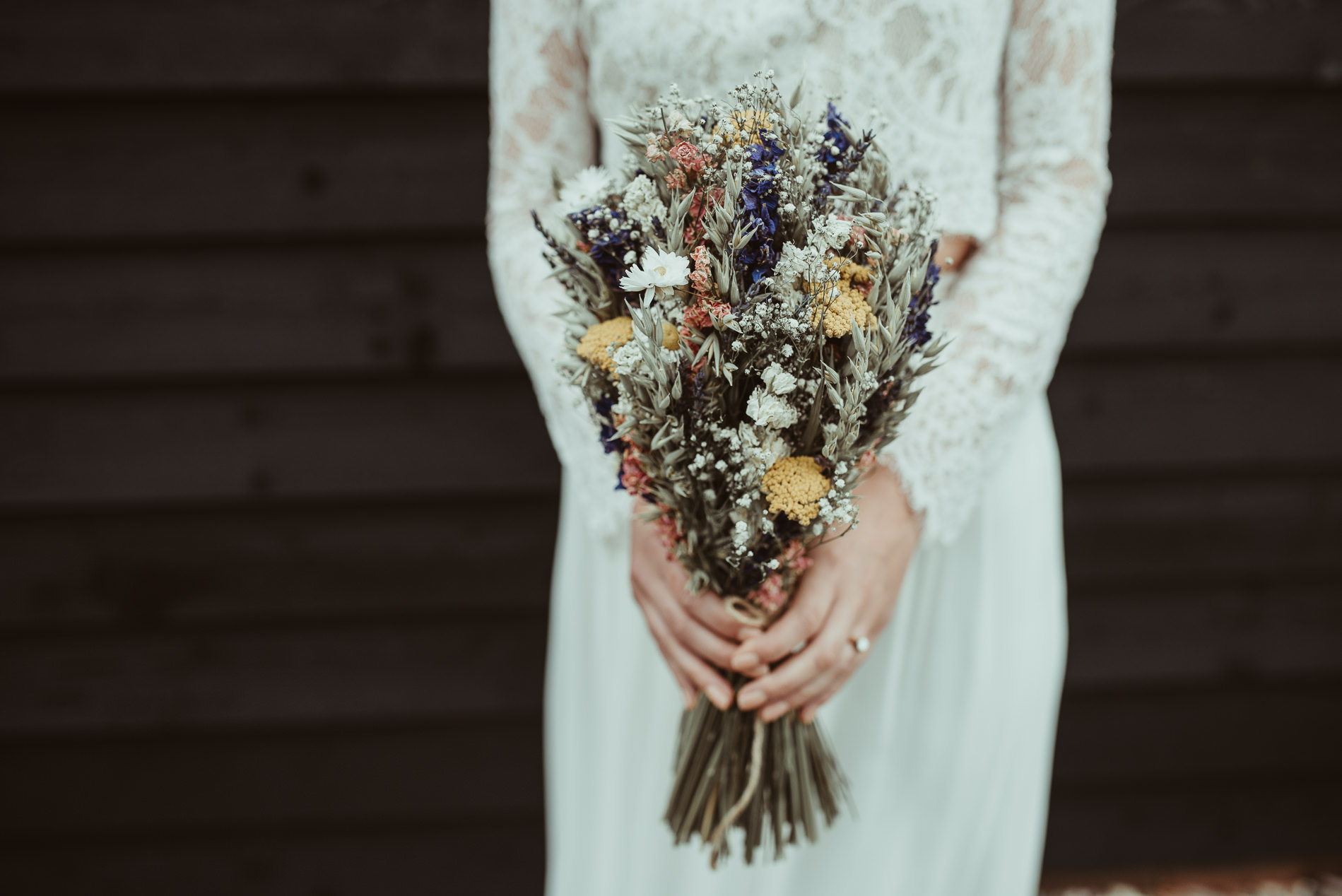 Artisan Dried Flower Bridal Bouquet