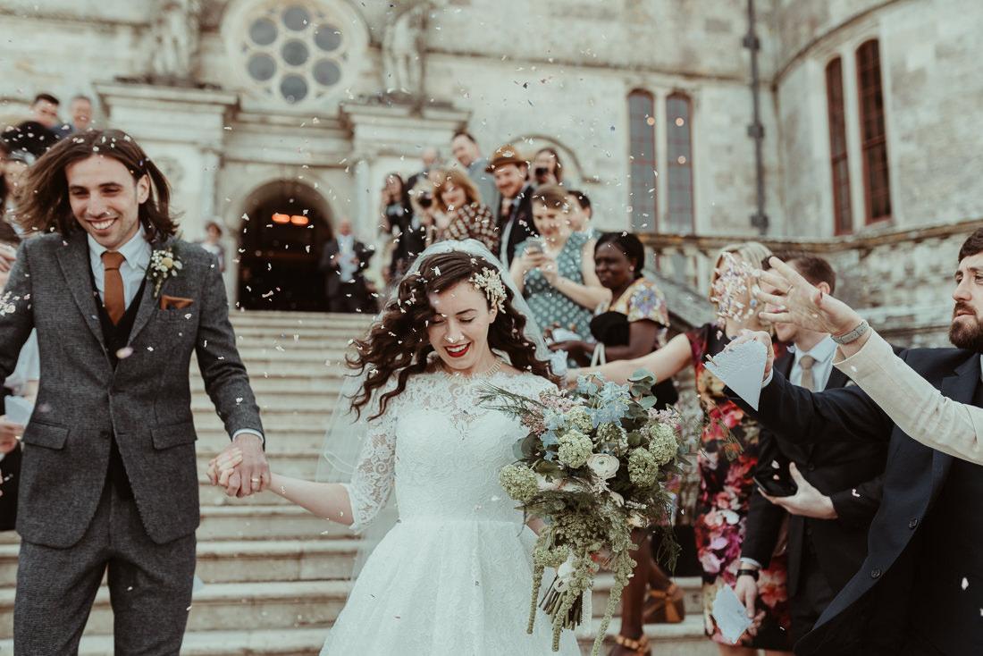 Lulworth Castle Wedding Confetti