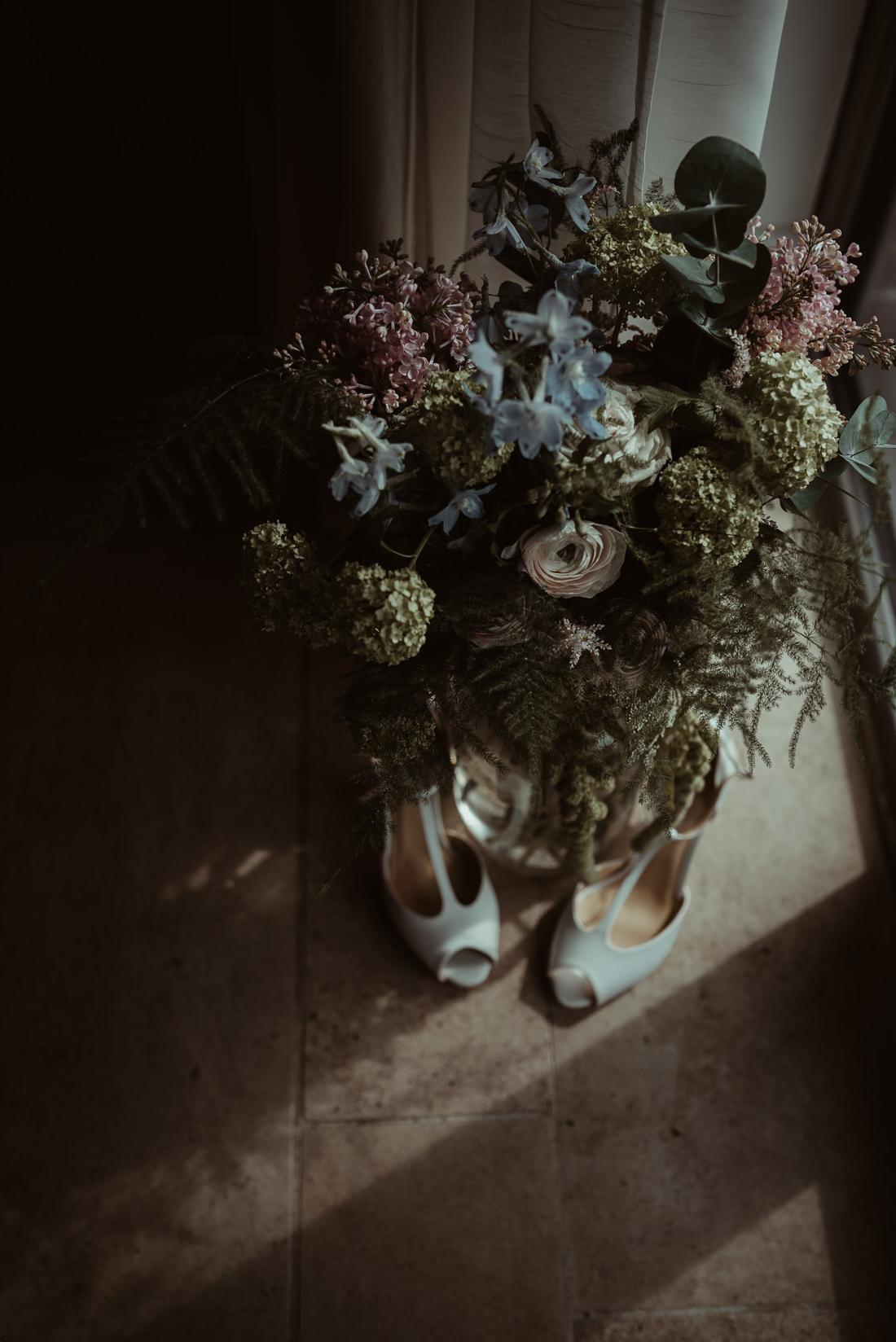 DIY Wedding Flowers at Lulworth Cove