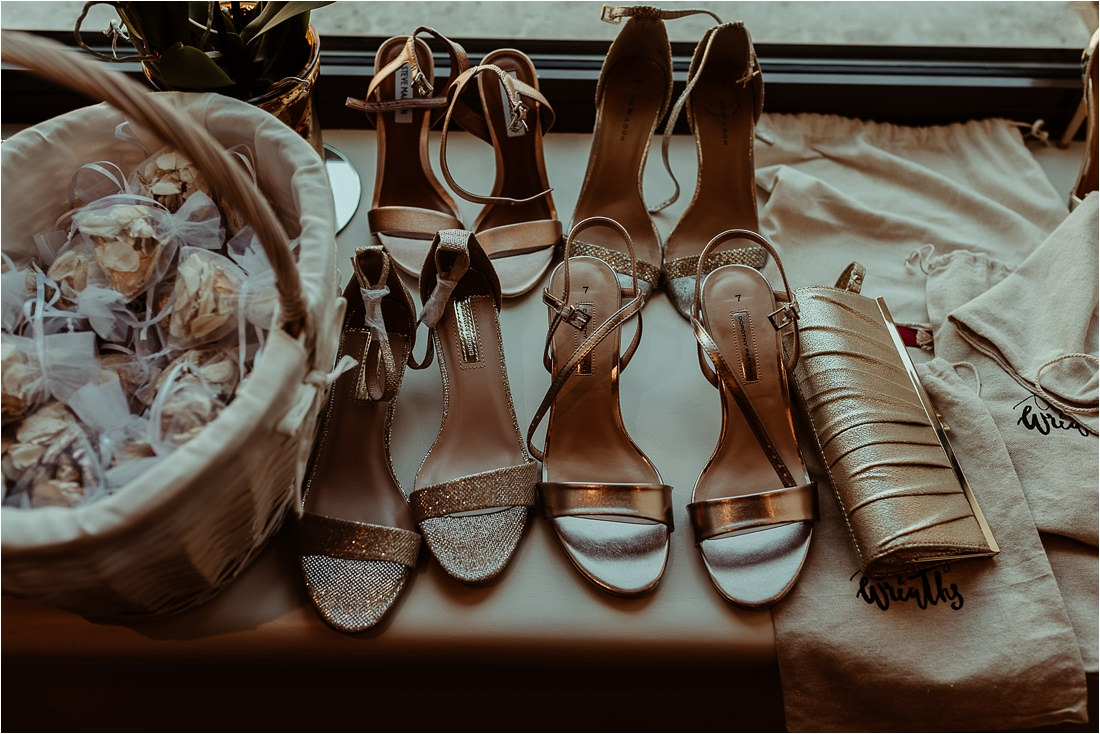 Bridal Prep - shoes and confetti Wiltons Music Hall