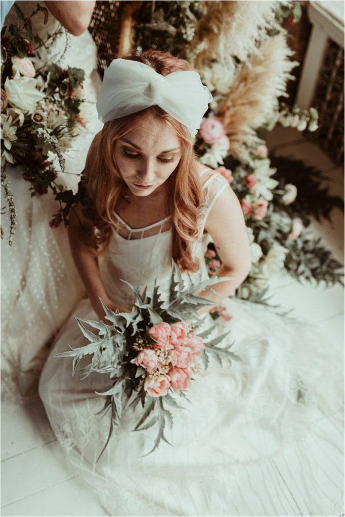Alternative bride in Halfpenny Dress