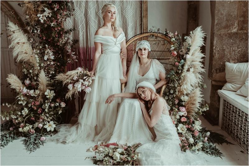 Styled in Halfpenny wedding dresses