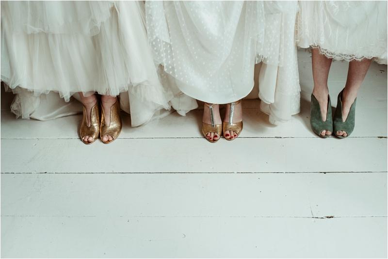 Esska Shoes with Halfpenny wedding dresses