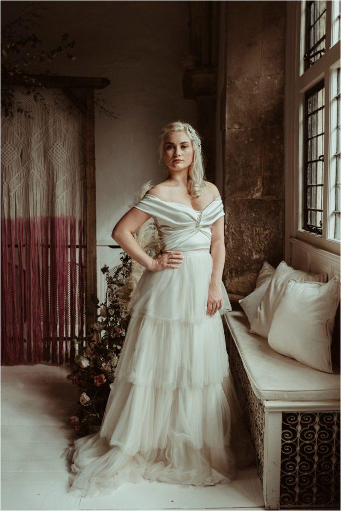 Alternative style in Halfpenny two-piece wedding dress