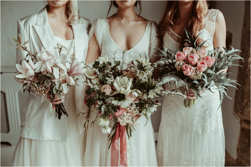 Halfpenny wedding dresses with Country Garden Flower Company