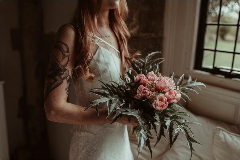 Edgy bride in Halfpenny London Dress