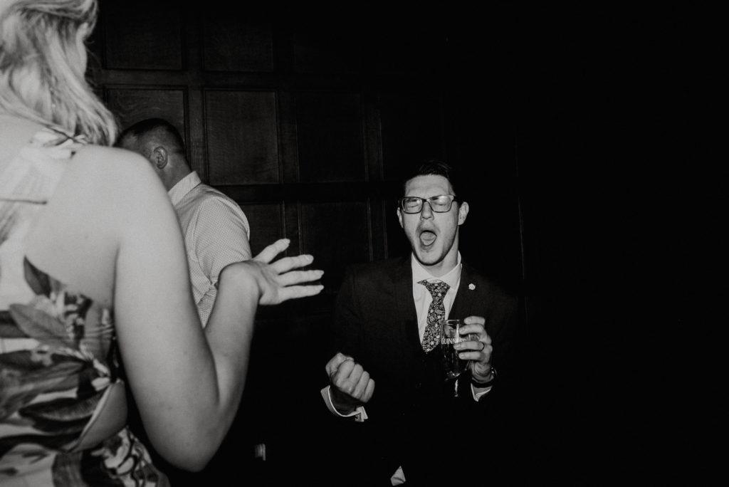 Dancing guests  at Hengrave Hall