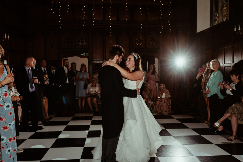 Dancing couple  at Hengrave Hall