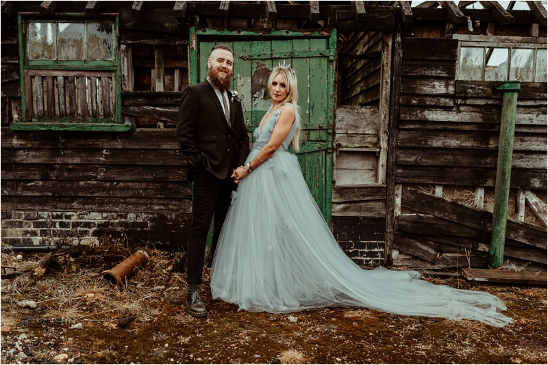 The Barns at Lodge Farm Nazing with an alternative wedding couple